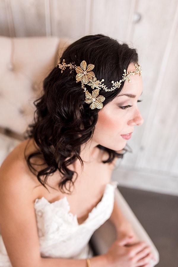 Boho Glam Bridal Halo Headpiece
