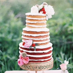 Ombre Naked Wedding Cake with Summer Berries