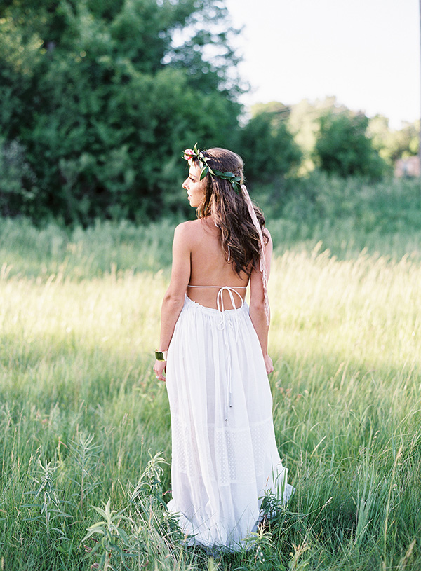 Backless Bohemian Wedding Dress