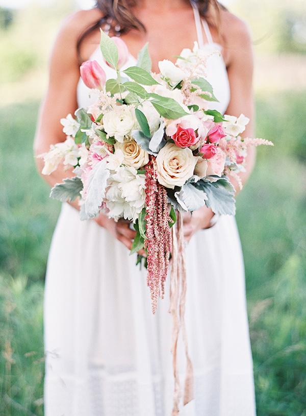 Romantic Bohemian Summer Bouquet