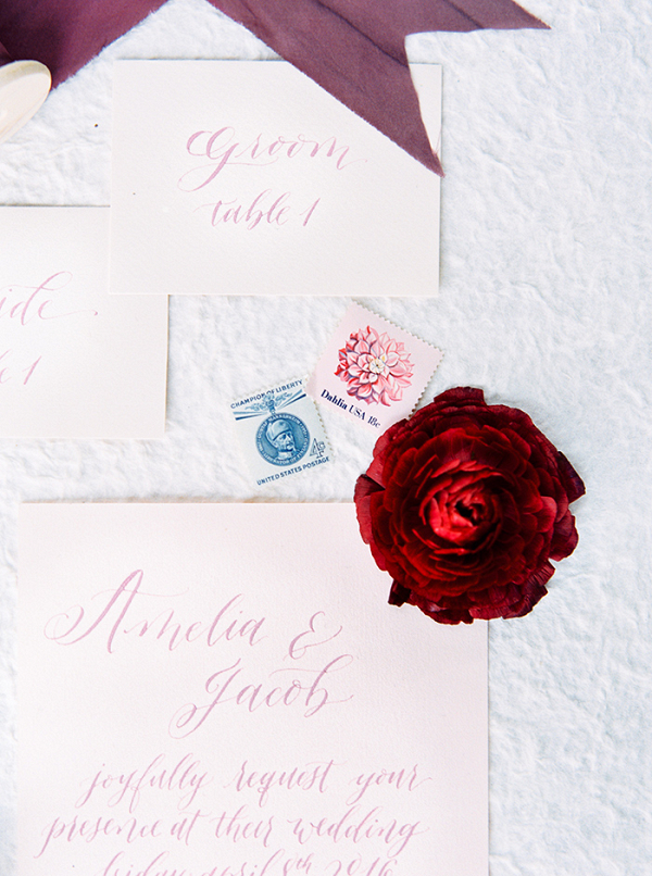 Pastel Water Color Hand Lettered Invitations
