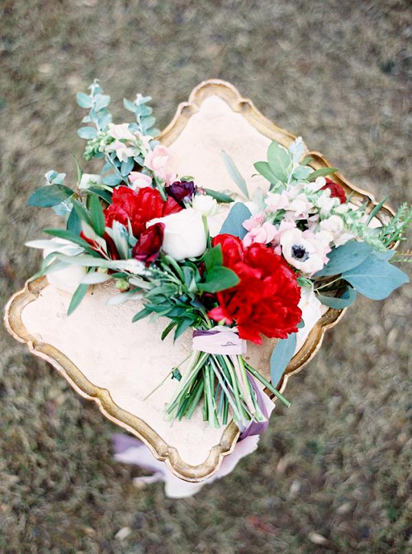 Crimson Charm Peony Bouquet