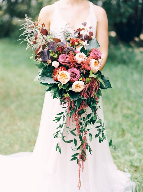 Loose and Wild Woodland Bouquet in Vivid Fall Colors