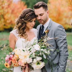 Romantic Winery Wedding Portraits in the Fall