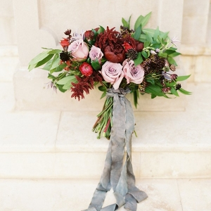 Jewel Toned Bouquet in Burgundy and Mauve