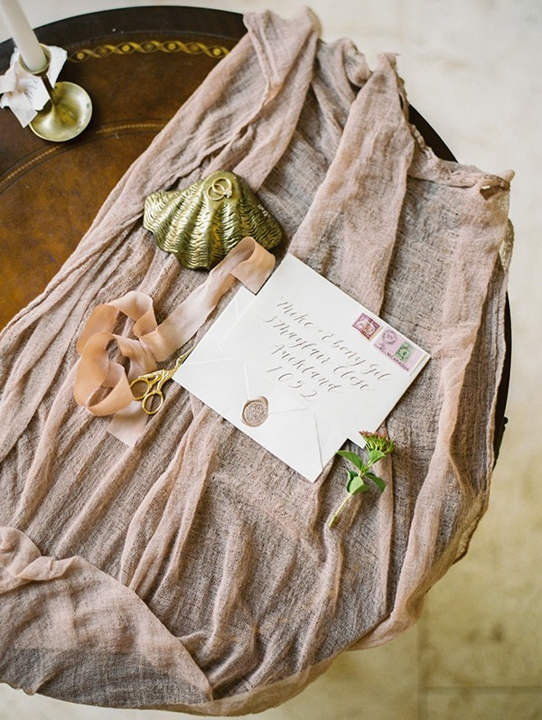 Vintage Love Letter in Hand Scripted Calligraphy