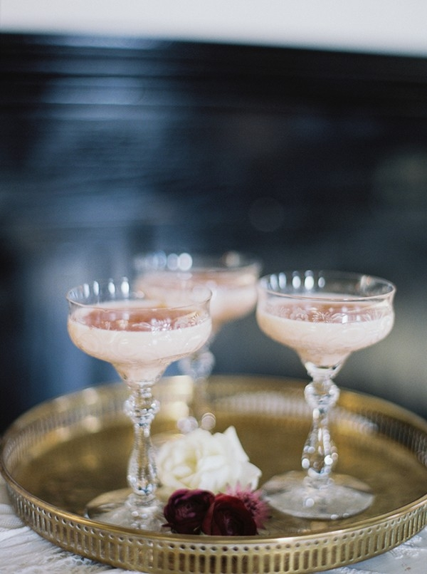 Hand Crafted Cocktails in Vintage Glasses