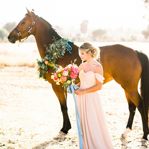 Whimsical Bridal Session with Colorful Charm