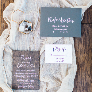 Modern Wood Grain Wedding Invitations
