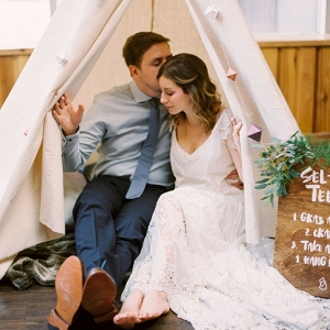Tipi Tent for a Whimsical Photo Booth