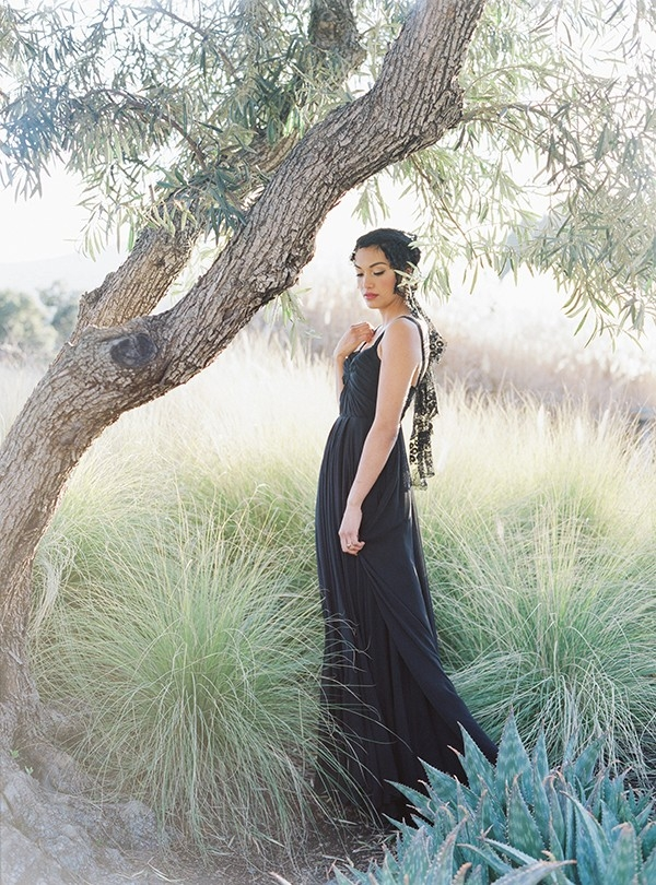 Graceful Black Wedding Dress for a Spanish Inspired Wedding