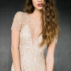 A Sparkling Jenny Packham Wedding Dress Inspired by Champagne Bubbles