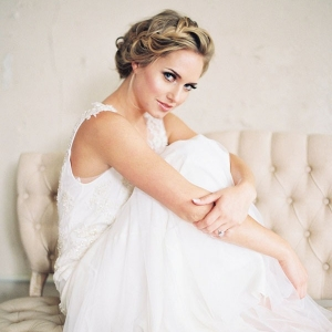 Classic Spring Bride with a Braided Hairstyle