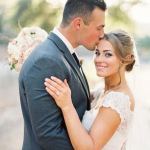 Romantic Magic Hour Wedding Portrait
