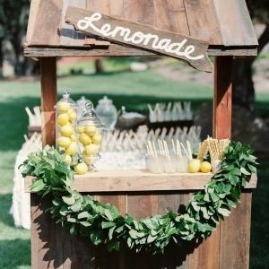 Lemonade Stand Bar for a Whimsical Summer Wedding