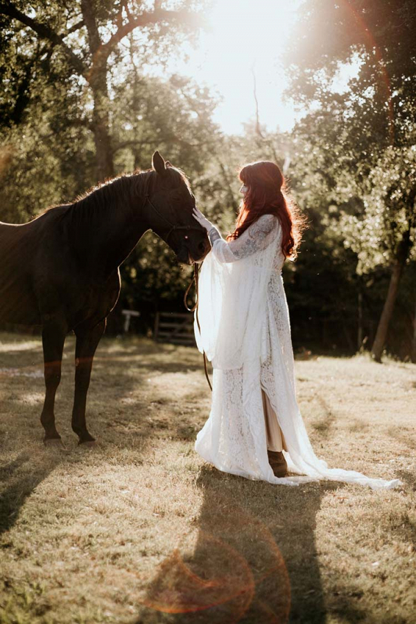 Boho Ranch Wedding with Equestrian Inspiration 11