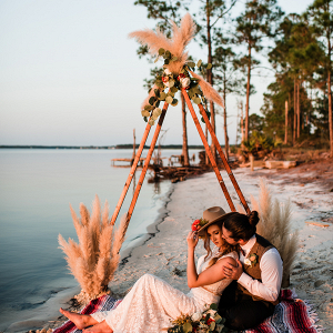 Coastal Country Beach Ceremony