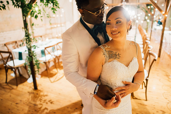 Emerald Gold Wedding with Industrial Details 19