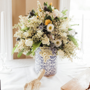 Timeless Wedding Inspo with Classic Blue Details Vase Image