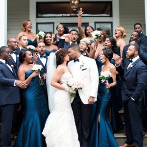 Gatsby-Themed-Garden-Wedding-Navy-Blue-wedding-party