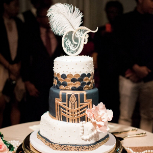 Gatsby-Themed-Garden-Wedding-Art-Deco-Wedding-Cake