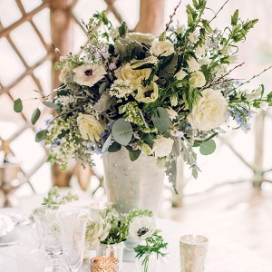 Biltmore Estate Anniversary Session - greenery floral centerpiece