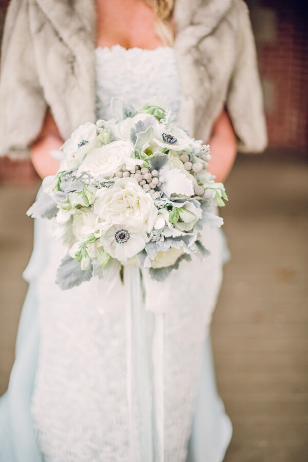 Biltmore Estate Anniversary Session - Winter wedding Bouquet