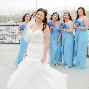 Blue Purple New Jersey Wedding - Bridesmaids