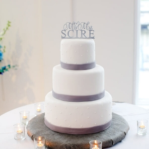 Grey Silver Wedding Cake
