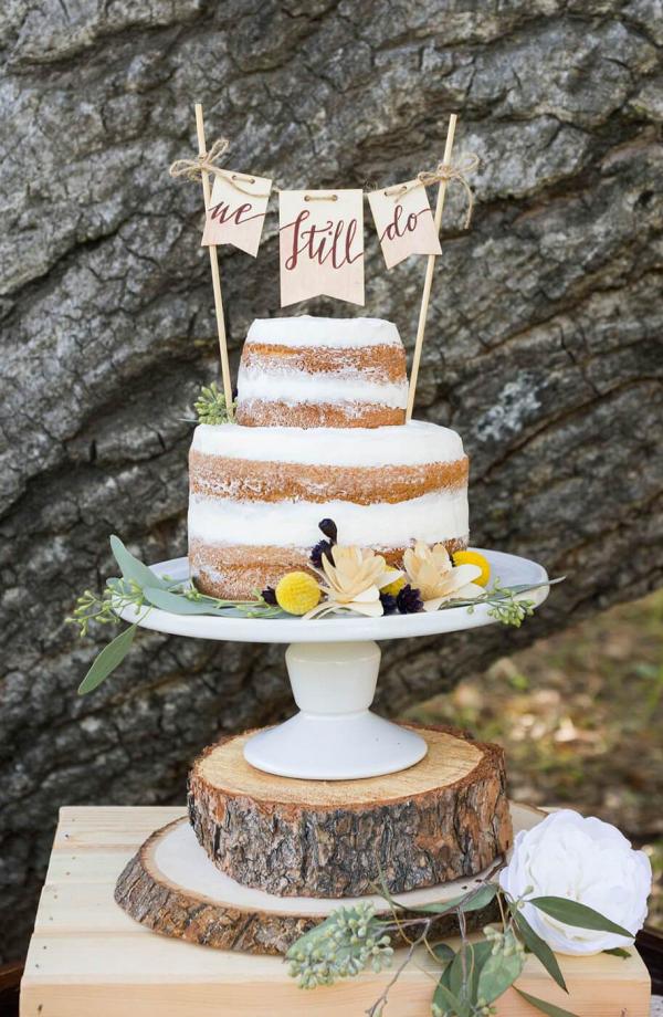 Boho-Picnic-Anniversary-Session-naked-wedding-cake