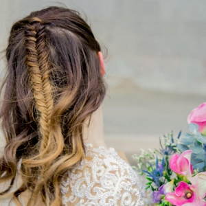 Central Park New York Bridal Portraits - Fishbraid wedding hair