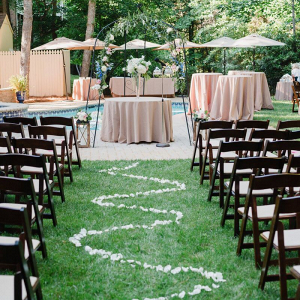 Charlotte-Backyard-Garden-Wedding-wedding-ceremony-aisle-petals