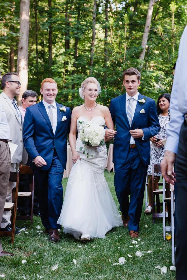 Charlotte-Backyard-Garden-Wedding-Sons-walking-bride-down-the-aisle