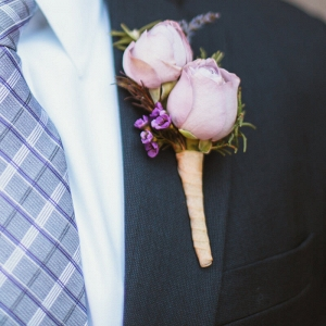Purple Navy Wedding - boutonniere