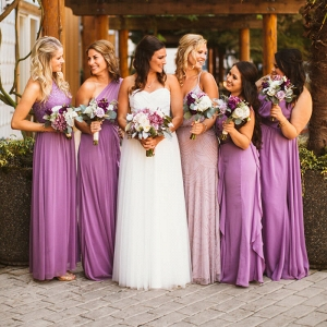 Purple Wisteria Wedding - Bridesmaids