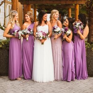 Purple Wisteria Wedding - Bridesmaids