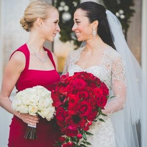 Red bridesmaids Dress