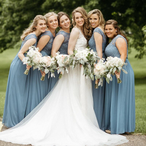Elegant-Minnesota-Christian-Wedding-slate-blue-bridesmaids
