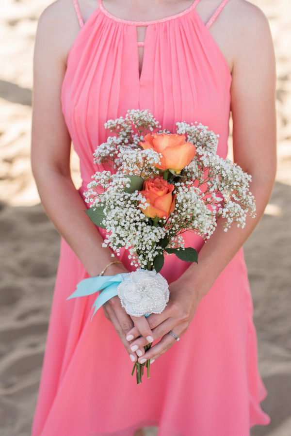 Pink-Blue-Virginia-Beach-Wedding-bridesmaids-bouquet