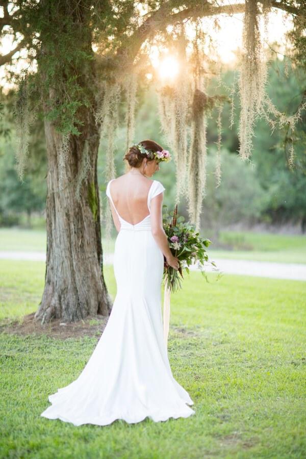 Bride in Paloma Blanca Mikaella
