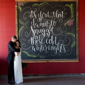Winter Wedding Snuggle Signage