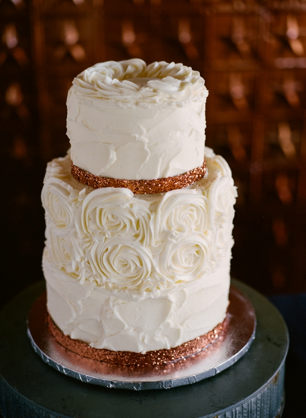 Copper Romantic Wedding Cake