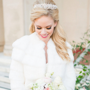 Elegant Country Club Wedding - Bridal Fur Coat