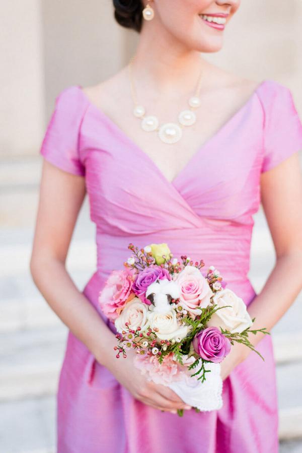 Elegant Country Club Wedding - Pink Bridesmaid