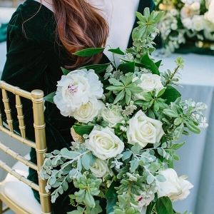 Emerald Gold Wedding greenery bouquet