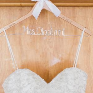 Elegant-Nigerian-Multi-Cultural-Wedding-personalized-hanger