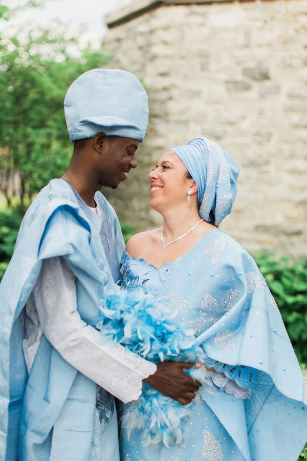 Elegant-Nigerian-Multi-Cultural-Wedding-couple-in-nigerian-attire