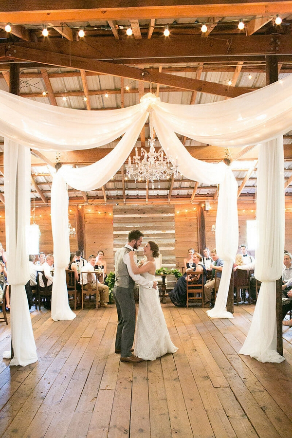 dancefloor draping decor