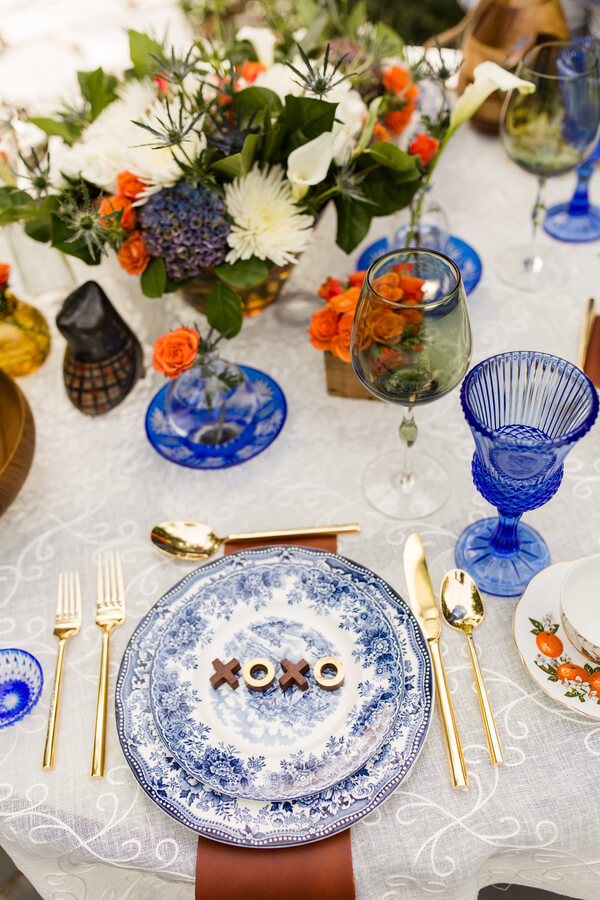English Garden Wedding - vintage place setting
