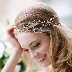 Rhinestones and Crystal Headband and Bridal Sash